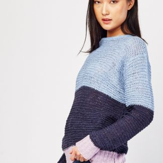 block color knitted jumper